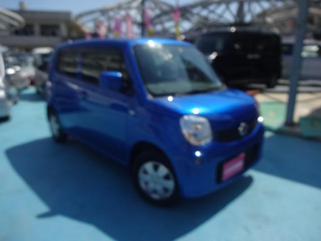 沖縄の中古車 日産 モコ 車両価格 49万円 リ済別 2013(平成25)年 8.0万km ブルーM