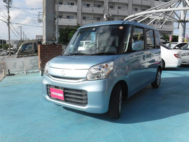 沖縄の中古車 スズキ スペーシア 車両価格 65万円 リ済別 2016(平成28)年 8.0万km ライトブルー