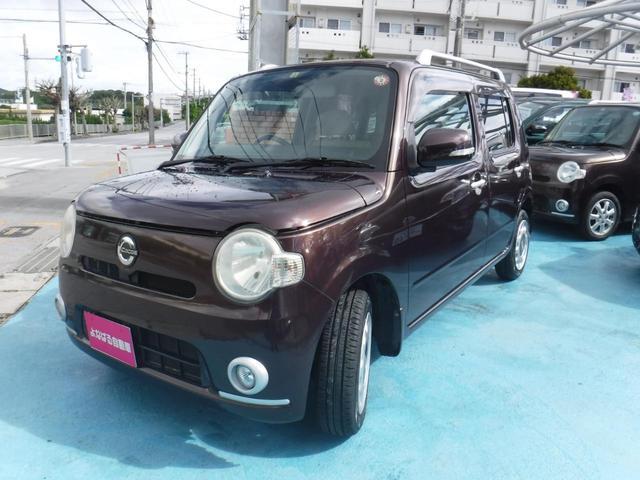 沖縄の中古車 ダイハツ ミラココア 車両価格 49万円 リ済別 2009(平成21)年 8.6万km ブラウン