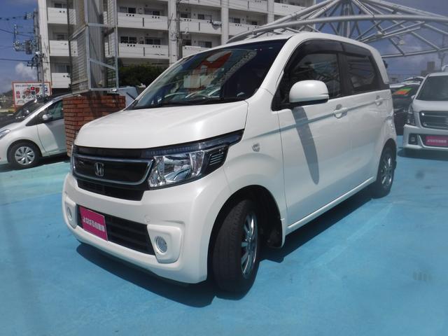 沖縄の中古車 ホンダ N-WGN 車両価格 72万円 リ済別 2015(平成27)年 8.1万km パールホワイト