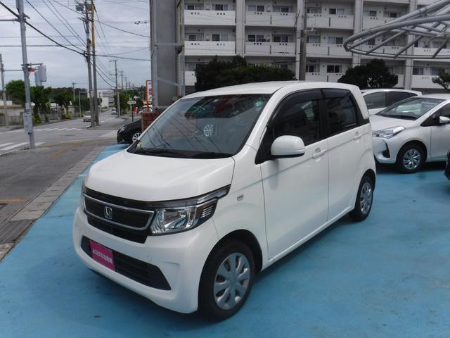 沖縄の中古車 ホンダ N-WGN 車両価格 68万円 リ済別 2014(平成26)年 6.9万km パールホワイト