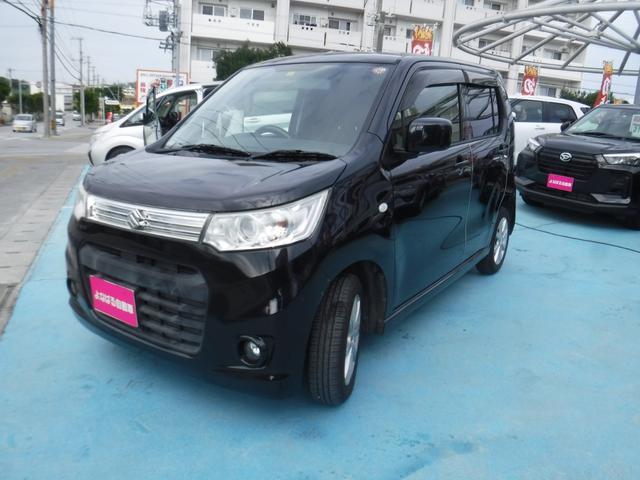 沖縄の中古車 スズキ ワゴンRスティングレー 車両価格 59万円 リ済別 2013(平成25)年 8.1万km ブラック