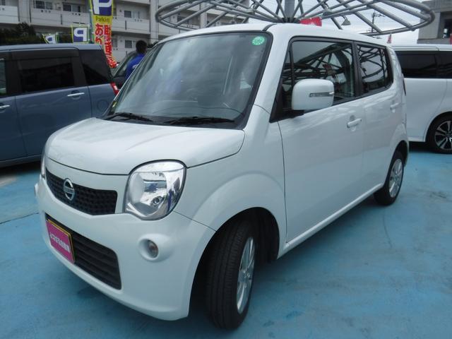 沖縄の中古車 日産 モコ 車両価格 48万円 リ済別 2014(平成26)年 9.0万km スノーパールホワイト