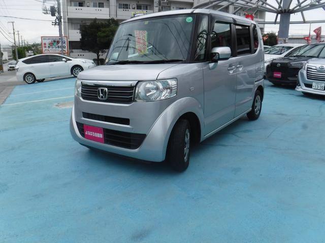 沖縄の中古車 ホンダ N-BOX 車両価格 49万円 リ済別 2013(平成25)年 12.5万km シルバー