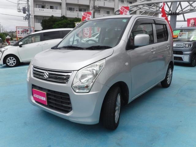 沖縄の中古車 スズキ ワゴンR 車両価格 49万円 リ済別 2013(平成25)年 5.8万km シルバー