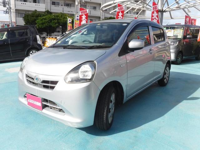 沖縄の中古車 ダイハツ ミライース 車両価格 39万円 リ済別 2012(平成24)年 3.5万km ブライトシルバーメタリック