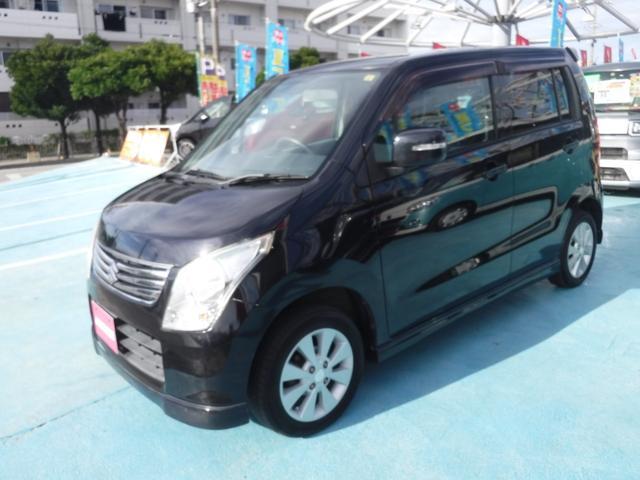 沖縄の中古車 スズキ ワゴンR 車両価格 39万円 リ済別 2012(平成24)年 7.2万km ブルーイッシュブラックパール3
