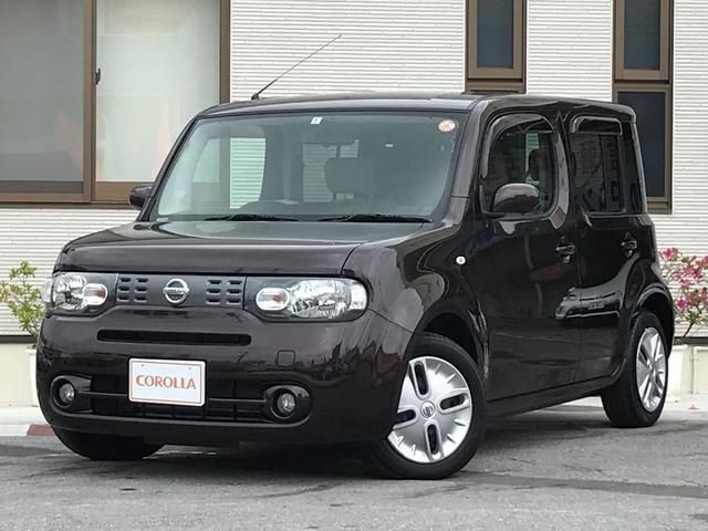 沖縄の中古車 日産 キューブ 車両価格 72万円 リ済込 平成24年 6.3万km ブラウン