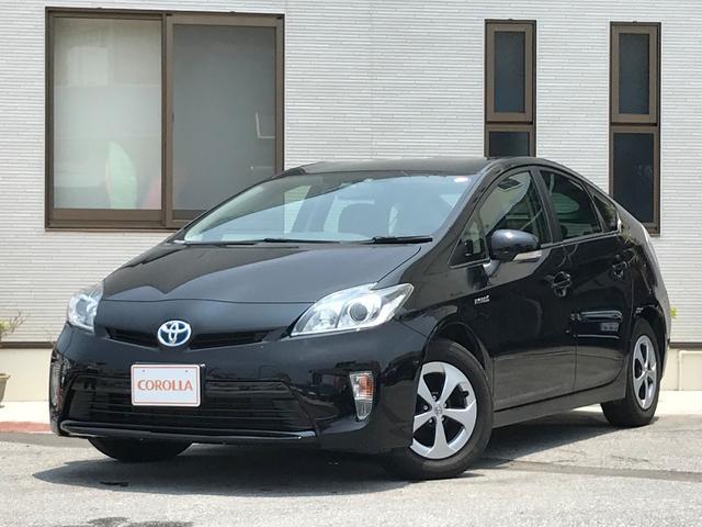 沖縄の中古車 トヨタ プリウス 車両価格 158.5万円 リ済込 平成26年 5.7万km ブラック