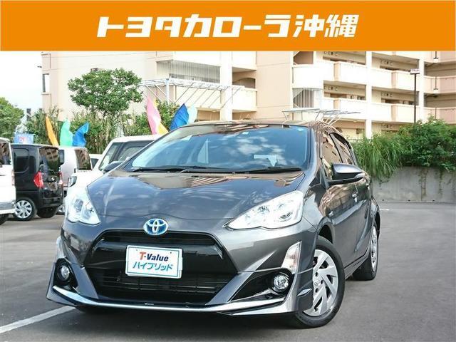 沖縄の中古車 トヨタ アクア 車両価格 155万円 リ済別 2016(平成28)年 3.1万km グレー