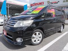 沖縄の中古車 日産 セレナ 車両価格 85万円 リ済込 平成20年 9.7万K ブラック