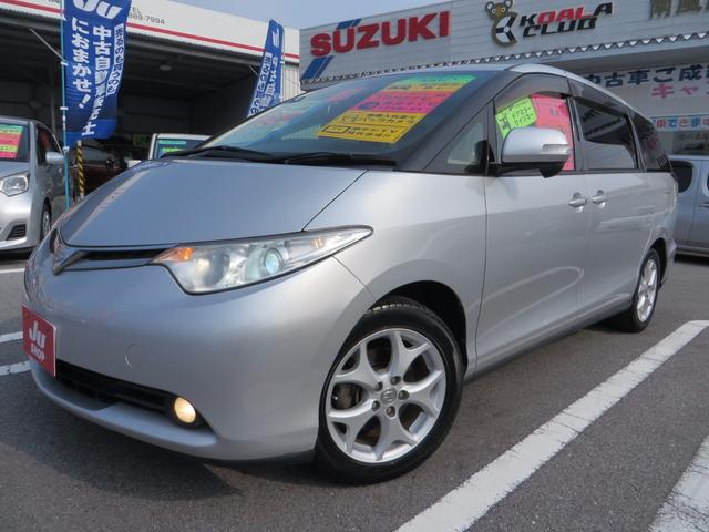 沖縄の中古車 トヨタ エスティマ 車両価格 78万円 リ済込 平成20年 9.6万km シルバーM