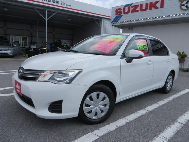 沖縄県の中古車ならカローラアクシオ 1.3X 新品タイヤ4本付き ナビTV ブルートゥース