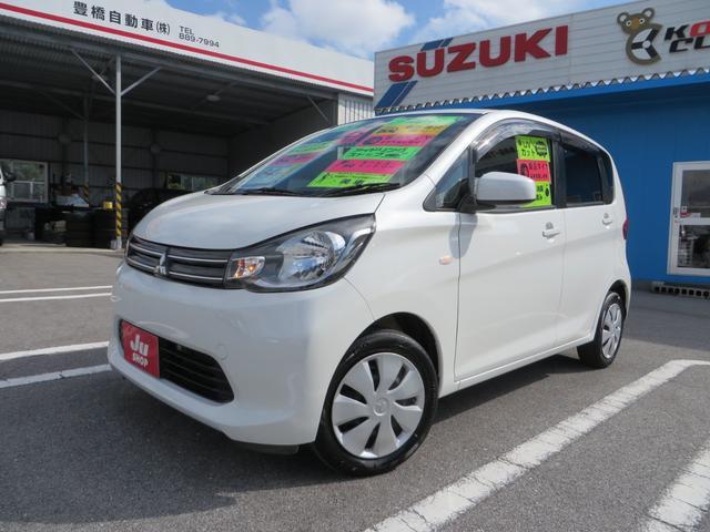 沖縄の中古車 三菱 eKワゴン 車両価格 58万円 リ済込 平成25年 8.0万km パールホワイト