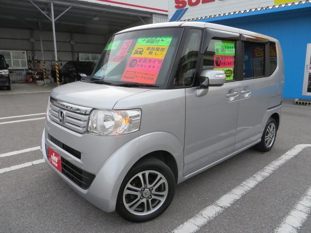 沖縄の中古車 ホンダ N-BOX 車両価格 82万円 リ済込 2013(平成25)年 8.6万km アラバスターシルバーメタリック