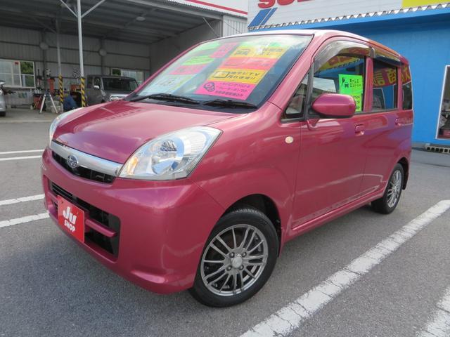 沖縄の中古車 スバル ステラ 車両価格 38万円 リ済込 平成20年 7.5万km コーラルピンクメタリック
