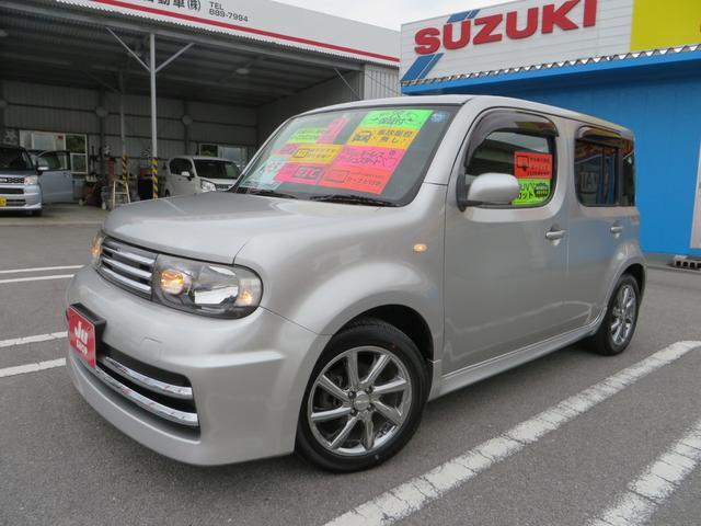 沖縄の中古車 日産 キューブ 車両価格 58万円 リ済込 平成21年 6.8万km ダイヤモンドシルバーM