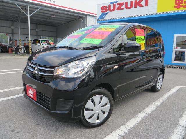 沖縄の中古車 三菱 eKワゴン 車両価格 89万円 リ済込 2017(平成29)年 0.5万km ブラックM