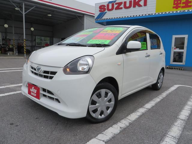 沖縄の中古車 ダイハツ ミライース 車両価格 42万円 リ済込 2013(平成25)年 7.6万km ホワイト