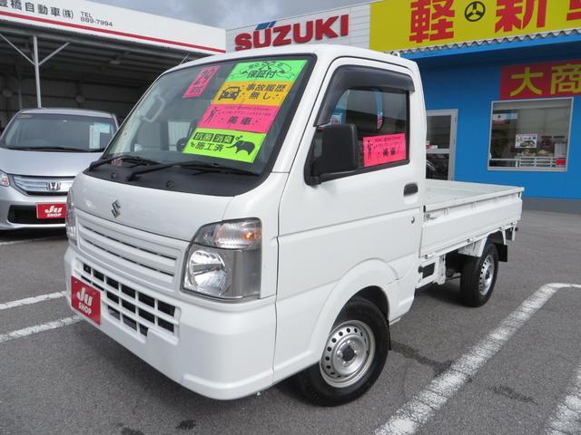 沖縄の中古車 スズキ キャリイトラック 車両価格 78万円 リ済込 2017(平成29)年 0.4万km ホワイト