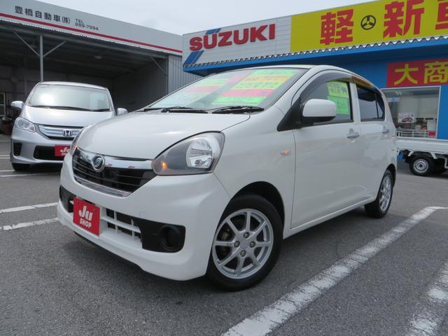 沖縄の中古車 ダイハツ ミライース 車両価格 48万円 リ済込 2013(平成25)年 7.8万km ホワイト