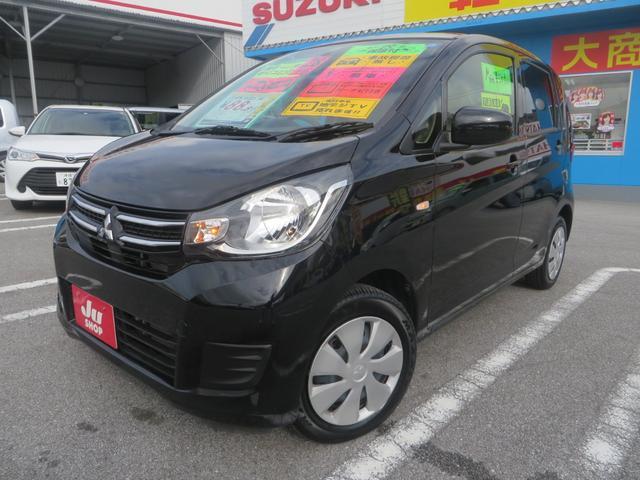 沖縄の中古車 三菱 eKワゴン 車両価格 82万円 リ済込 2016(平成28)年 2.3万km ブラックM