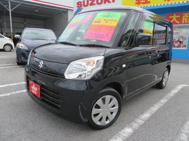 沖縄県の中古車ならスペーシア X ナビTV付き 新品ブラックレザーシートカバー Pスタート