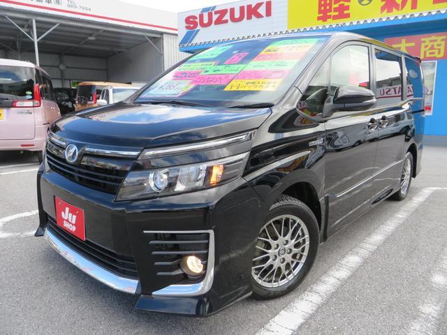 沖縄県の中古車ならヴォクシー ハイブリッドZS レーダーブレーキサポート搭載 新品ナビTV