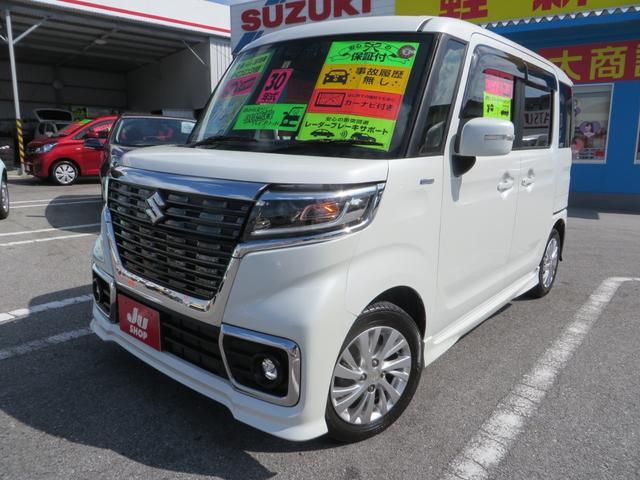「スズキ」「スペーシアカスタム」「コンパクトカー」「沖縄県」の中古車