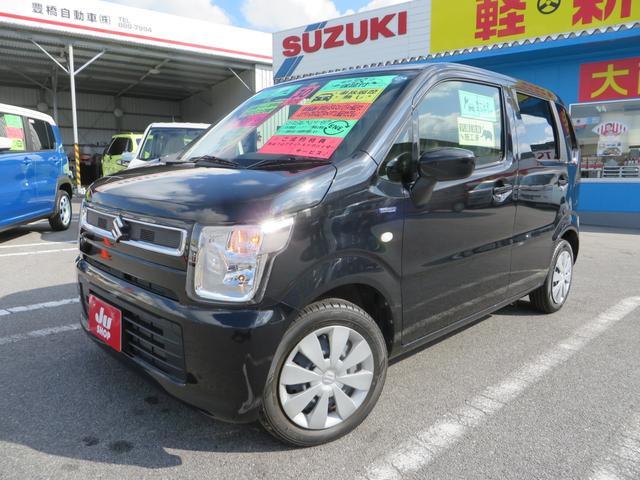 沖縄の中古車 スズキ ワゴンR 車両価格 98万円 リ済込 2018(平成30)年 0.9万km ブルーイッシュブラックパール3