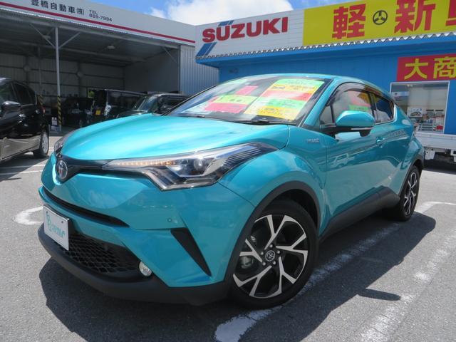 沖縄県の中古車ならC-HR G LEDエディション ハイブリッド 9インチナビTV付き