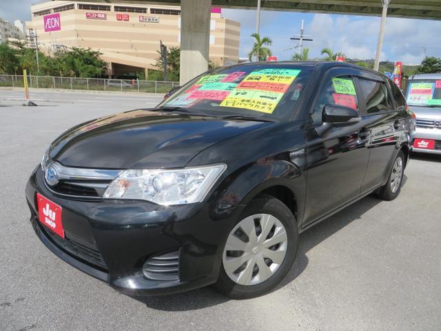 沖縄の中古車 トヨタ カローラフィールダー 車両価格 95万円 リ済込 2013(平成25)年 7.9万km ブラックマイカ