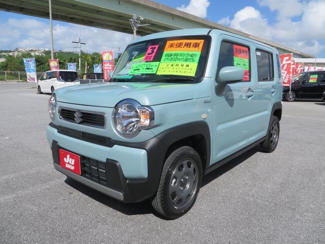 沖縄県の中古車ならハスラー ハイブリッドG レーダーブレーキサポート搭載 パーキングアシスト シートヒーター オートエアコン オートライト