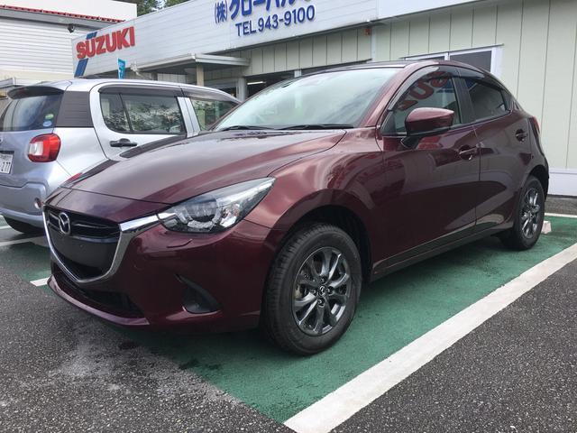 沖縄の中古車 マツダ デミオ 車両価格 187万円 リ済込 平成29年 0.1万km ワイン