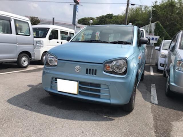 沖縄の中古車 スズキ アルト 車両価格 70万円 リ済込 2018(平成30)年 1.5万km ライトブルー