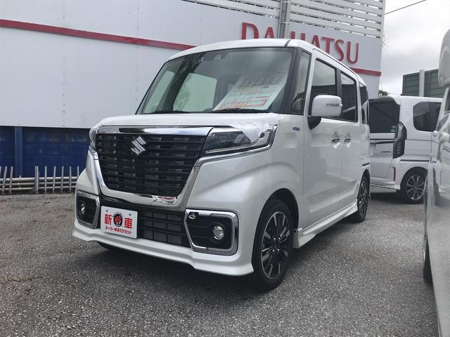 沖縄の中古車 スズキ スペーシアカスタム 車両価格 185万円 リ済込 2021(令和3)年 3km パール
