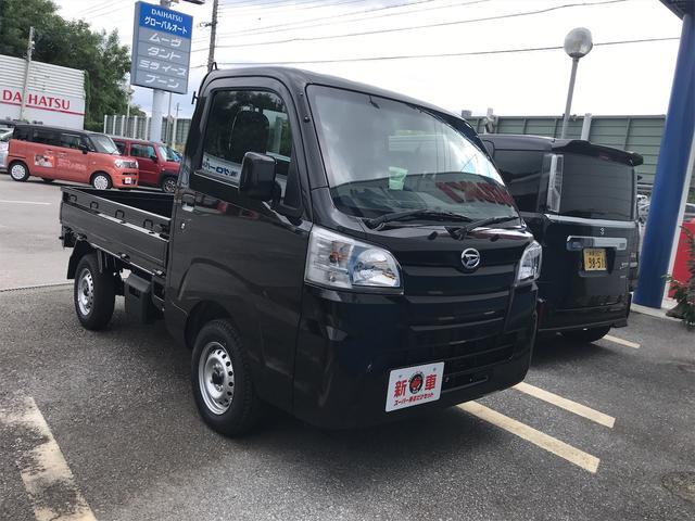 沖縄の中古車 ダイハツ ハイゼットトラック 車両価格 100万円 リ済込 2021(令和3)年 6km ブラック