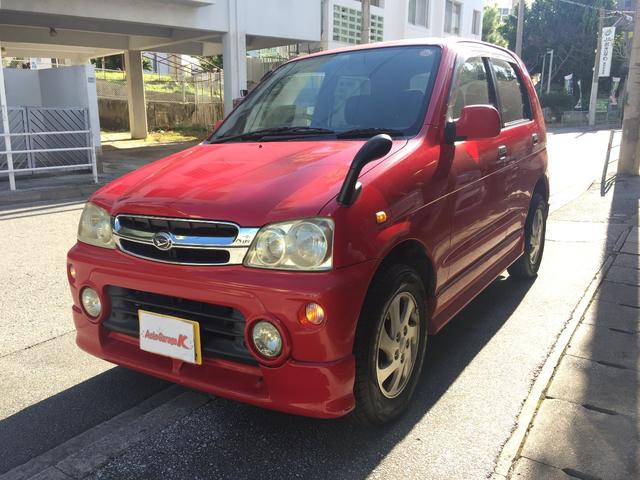 沖縄の中古車 ダイハツ テリオスキッド 車両価格 14万円 リ済込 平成12年 7.4万km レッド