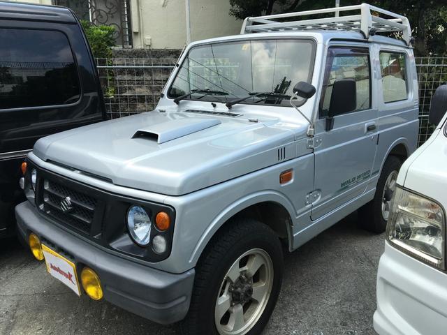 沖縄の中古車 スズキ ジムニー 車両価格 24万円 リ済込 1996(平成8)年 16.0万km シルバー