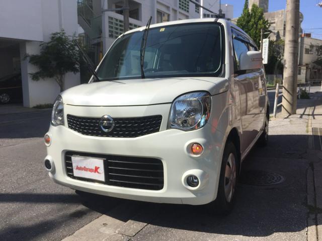 沖縄の中古車 日産 モコ 車両価格 34万円 リ済込 2012(平成24)年 13.1万km パールホワイト