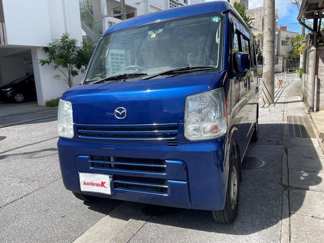 沖縄の中古車 マツダ スクラム 車両価格 48万円 リ済込 2015(平成27)年 13.0万km ブルー
