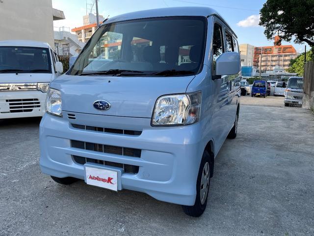沖縄の中古車 スバル サンバーバン 車両価格 60万円 リ済込 2017(平成29)年 10.2万km ライトブルー
