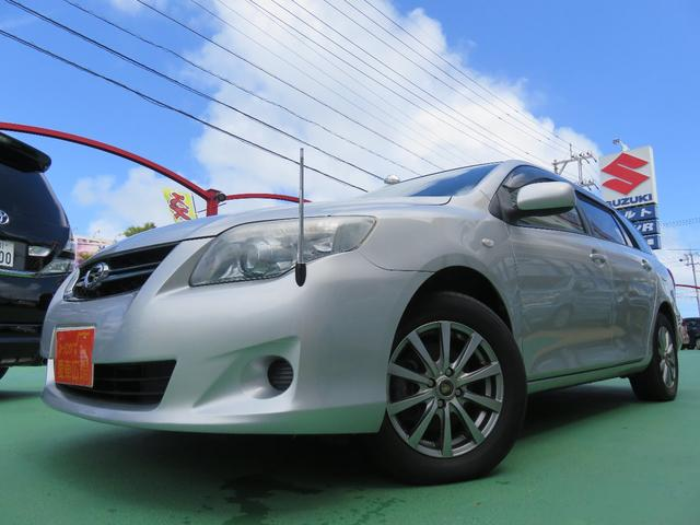 沖縄の中古車 トヨタ カローラフィールダー 車両価格 62万円 リ済別 平成22年 8.0万km シルバーM
