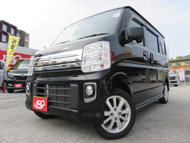 沖縄の中古車 スズキ エブリイワゴン 車両価格 142万円 リ済別 2016(平成28)年 1.9万km ブラック