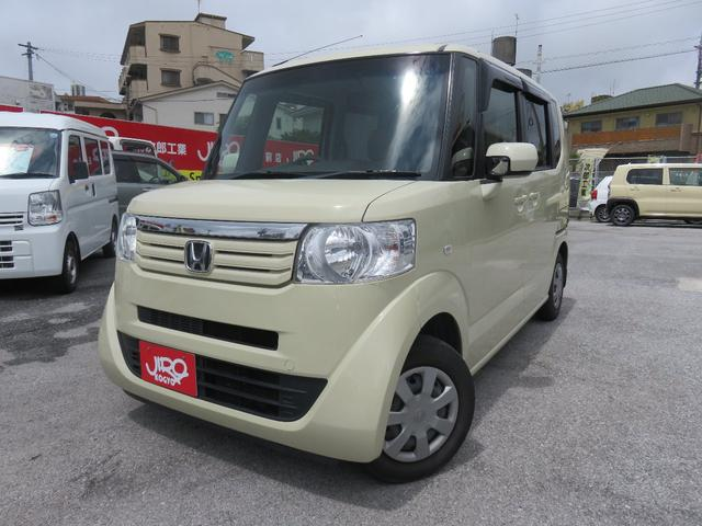 沖縄の中古車 ホンダ N-BOX 車両価格 85万円 リ済別 2012(平成24)年 4.9万km ライトイエロー
