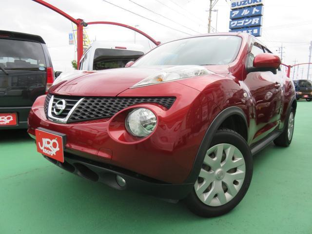 沖縄の中古車 日産 ジューク 車両価格 60万円 リ済別 2011(平成23)年 6.1万km レッド