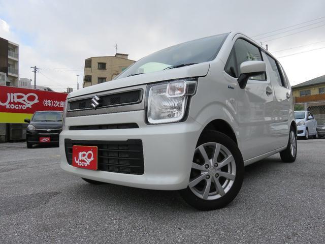 沖縄の中古車 スズキ ワゴンR 車両価格 117万円 リ済別 2019(令和1)年 0.7万km パールホワイト