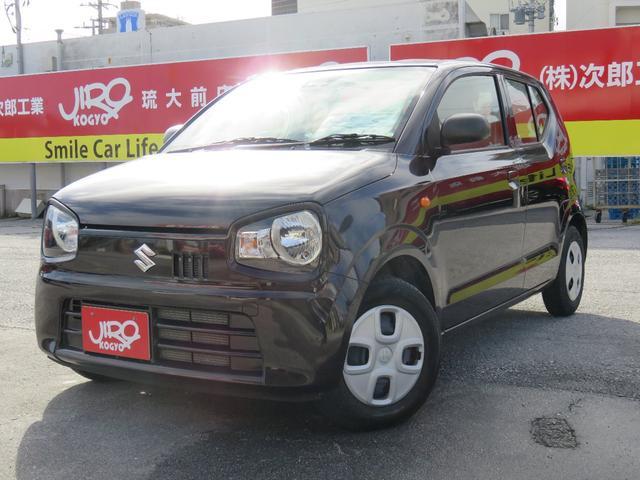 沖縄の中古車 スズキ アルト 車両価格 82万円 リ済別 2019(平成31)年 1.3万km ブラウン
