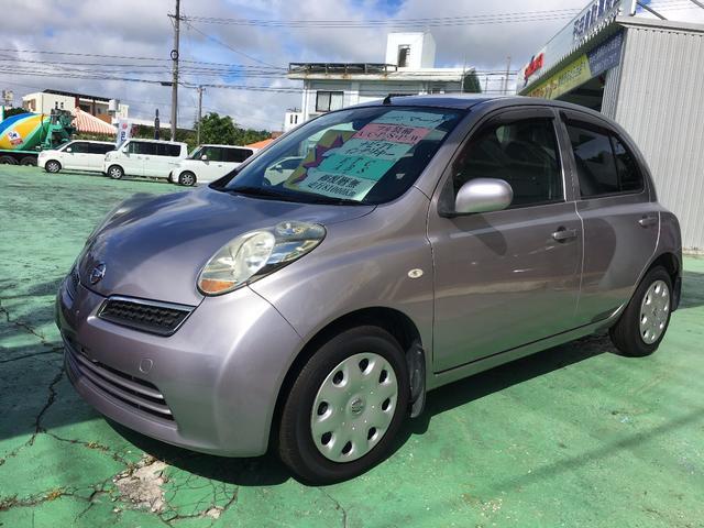 沖縄の中古車 日産 マーチ 車両価格 25万円 リ済別 2009(平成21)年 8.1万km パープル