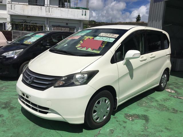 沖縄の中古車 ホンダ フリード 車両価格 65万円 リ済込 平成21年 10.6万km パールホワイト